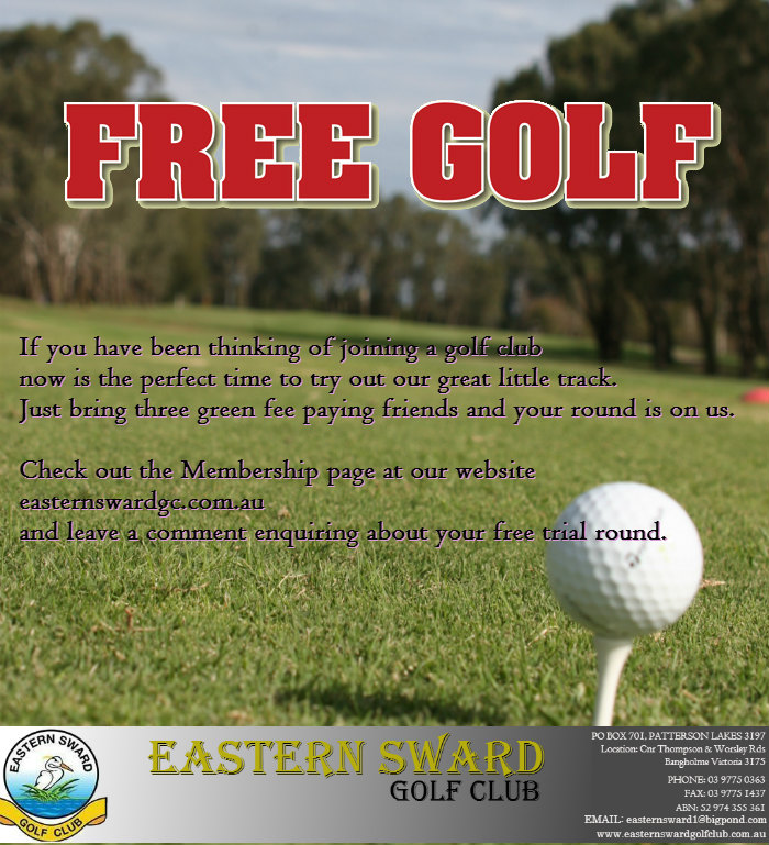 Free golf flyer